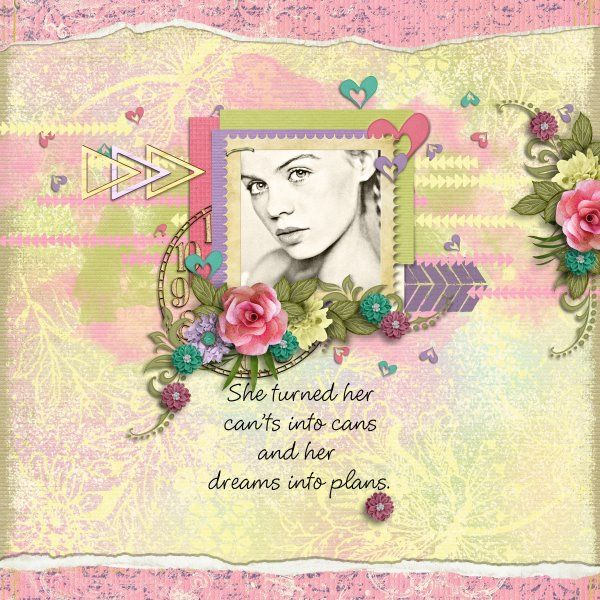 Kit Gather Your Dreams by Designs by Laura Burger. Template Mix It Up #7 by Heartstrings Scrap Art. Photo by Marta Everest Photography.