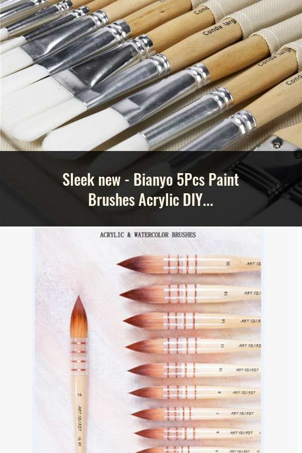 5pcs Artist Watercolor Paint Brush Pen Set Art Painting Drawing Brush Supplies