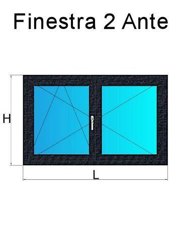 Finestre in pvc 2 ante antracite venato prezzi e offerte for Offerta finestre pvc
