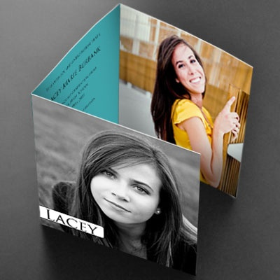 Tri Fold Photo Graduation Card- Simple