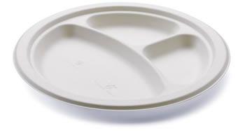 piatto 3 scomparti per feste e degustazioni http://www.panesalamina.com/stoviglie-monouso-biodegradabili-compostabili-per-feste-e-sagre