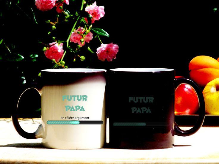 Mug à personnalisé, Mug futur papa, Mug magique, mug original et personnalisable, cadeau , tasse céramique : Vaisselle, verres par sublimagecreations