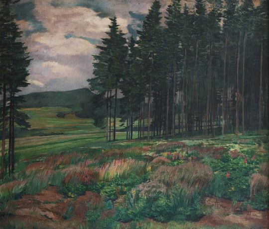 Antonín Hudeček (Czech, 1872–1941), Meadow, 1910. Oil on canvas, 100 x 115 cm.