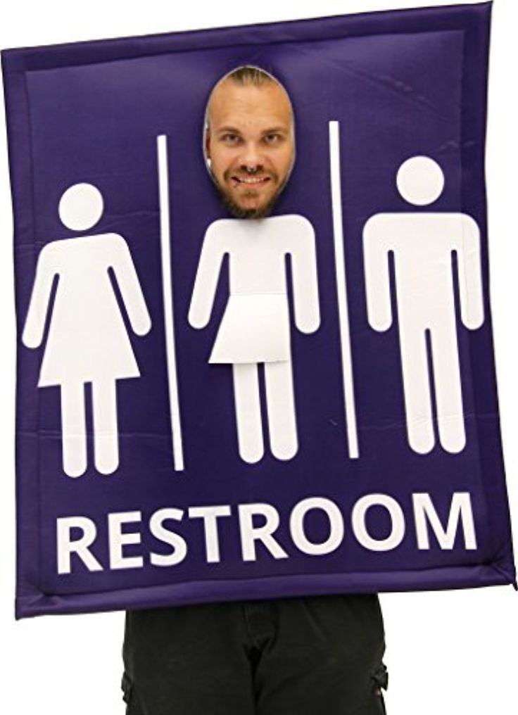 Funny Unisex Transgender Bathroom Sign Costume -- Awesome products selected by Anna Churchill
