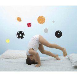 Little Boo-Teek - Decals and Stickers Speckled House Wall Decal - Sports Ball $24.95 www.littlebooteek.com.au #littlebooteekau #presents #kids #bedroom #playroom #decals #wallstickers