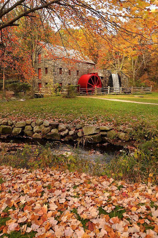 Wayside Inn Grist Mill in Sudbury, Massachusetts, USA