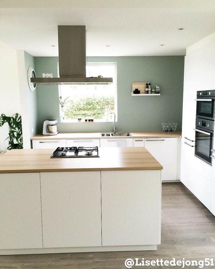 Inspiratie Keuken Muur : op Pinterest – Grijze Keukens, Grijs Keukens en Kookeilanden