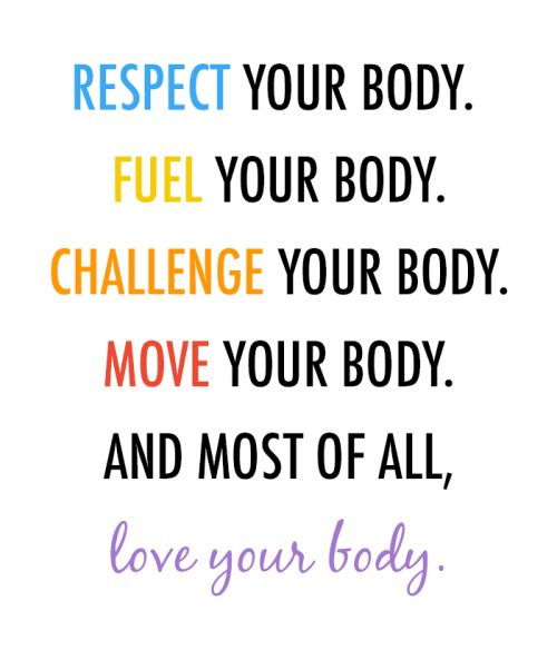"""""""Respect your body enough to give it the love it deserves"""". More inspiration here - https://www.pinterest.com/fitbodybuzz/fitspiration-motivation/ #fitspiration #motivational"""