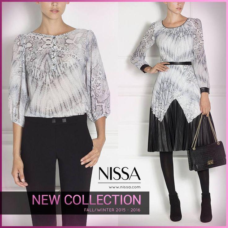 #nissa #new #collection #fw #fw2015 #arrivals #snake #print #leather #piele #sarpe #rochie #dress #top #bluza  www.nissa.com