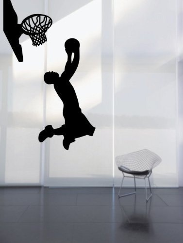 Large  Easy Instant Decoration Wall Sticker Wall Mural Sport Basketball  Basketball Fade