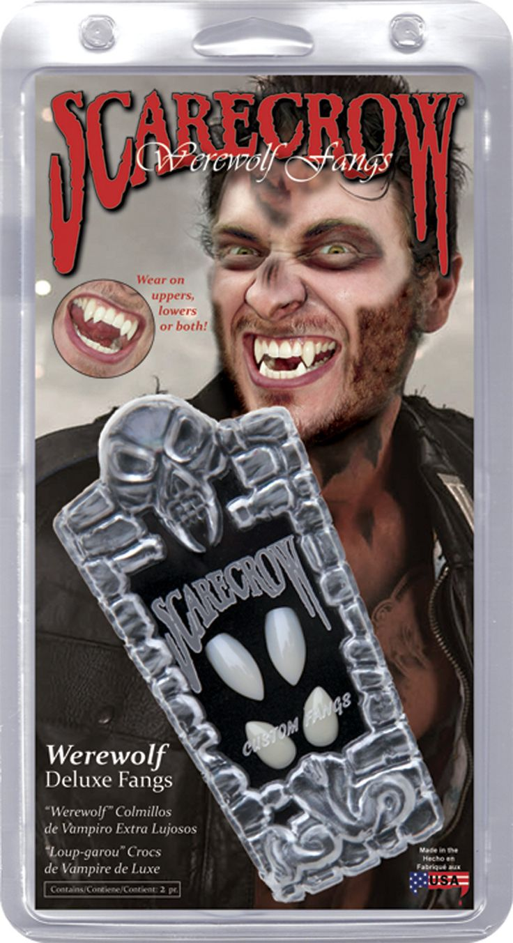 Scarecrow Vampire Fangs Get the most realistic comfortable fangs available! Easy, fast and everything included to customize the highest quality fang caps to your teeth. The permanent snap-fit mold cre