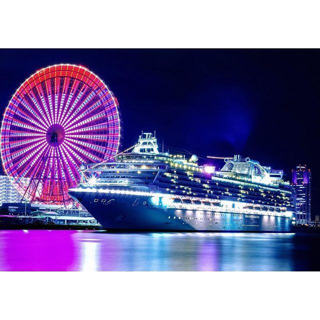 Instagram【menme1113】さんの写真をピンしています。 《. 予定が飛んで、急遽 大阪港へ 今日は、豪華客船が来てました٩('ω')و diamond princess ⛴ 大阪港 桜島より  #PENTAX#ペンタックス#Ks2#一眼レフ#大阪港#桜島#天保山#豪華客船#OSAKA#diamondprincess#ダイヤモンドプリンセス #夜景 #nightveiw #ship #船 #japan_night_view #yakei_luv #ig_color #instagramjapan  #umlimitedjapan #wu_japan #nationaldestinations#IGersJP #奥行き同盟 #night_shots_ #best_expression_night #phos_japan #longexposure_japan #superphoto_longexpo #eclectic_shotz》