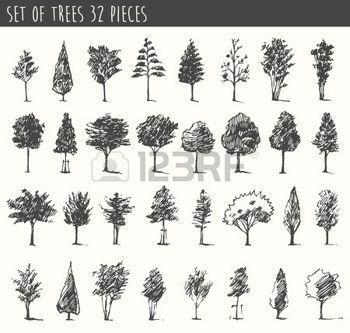 скетчи деревьев - Поиск в Google