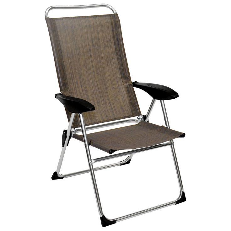 Lightweight Adjustable Folding Arm Chair Outdoor Folding