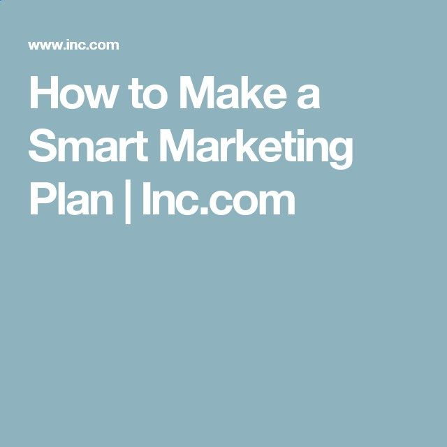 How To Make A Smart Marketing Plan  IncCom  Affiliate Marketing