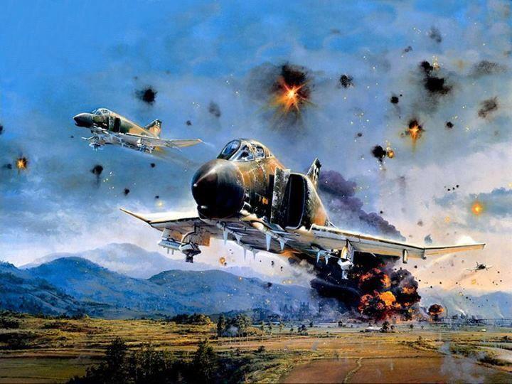 F-4 Bombing run in Viet-nam | Airplanes | Pinterest | Vietnam  F-4 Bombing run...