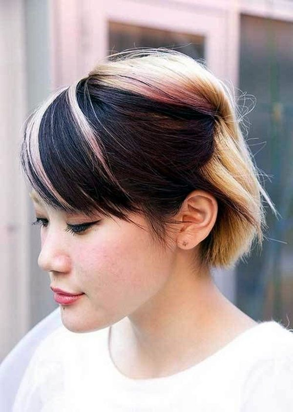 short haircut colors best 25 two toned hair ideas on cool tone 5208 | 67dd32f66325831020079c0a2b7f1021 short stacked hairstyles hairstyles short hair