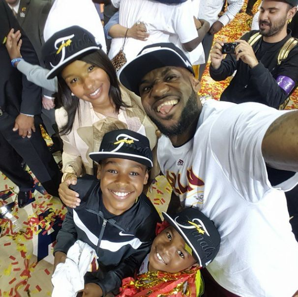 Lebron James and Savannah Eastern Conference Champs