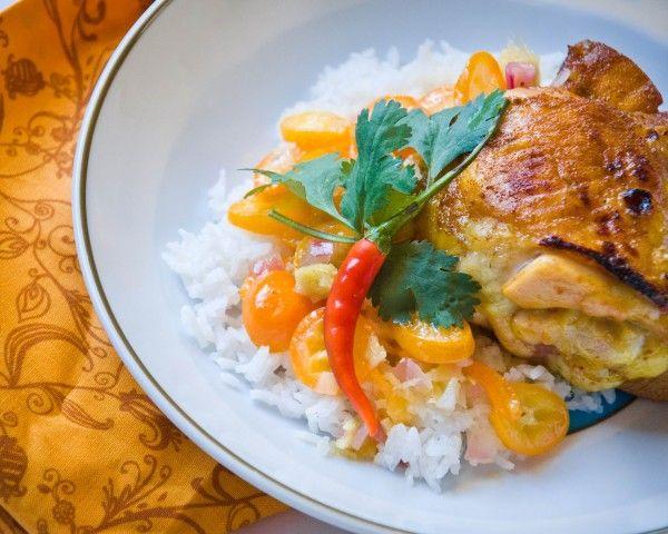 I am SO making this. Kumquat-Lemongrass Chicken