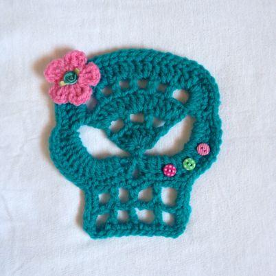 Crochet a Sugar Candy Skull for Halloween