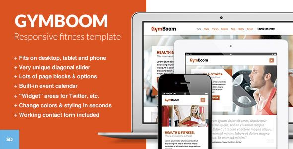 GymBoom - A Responsive Fitness Gym Template