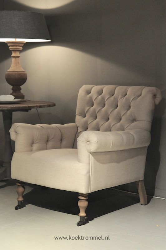 Comfortabele fauteuil met capitons zitmeubelen pinterest charcoal corner and tufted chair - Comfortabele fauteuil ...