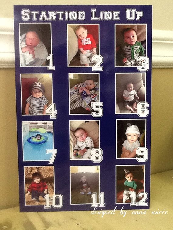 SPORTS THEMED Picture Collage  Personalize by KnotJustWeddings, $60.00