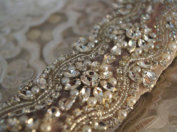grano de la perla y diamantes de imitación del ajuste, ajuste nupcial correa, correa de grano de rhinestone, correa del bricolaje marco nupcial, correa de super lujo