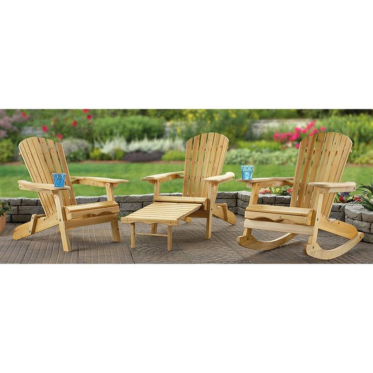 Traditional Adirondack Style And Convenience... Made AFFORDABLE! Can Be  Painted To Match. Adirondack Rocking ChairFolding ...