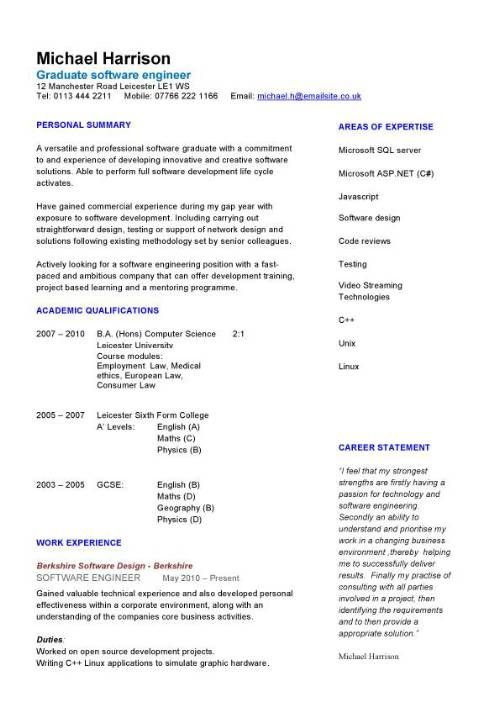 16 best CV ) images on Pinterest Cover letter example, Cover - engineering cv template