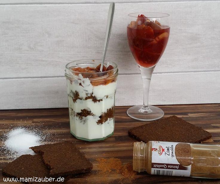 Size Zero Rezept Quarkcreme mit Pumpernickel und Pflaume - Frühstück Woche 1-6