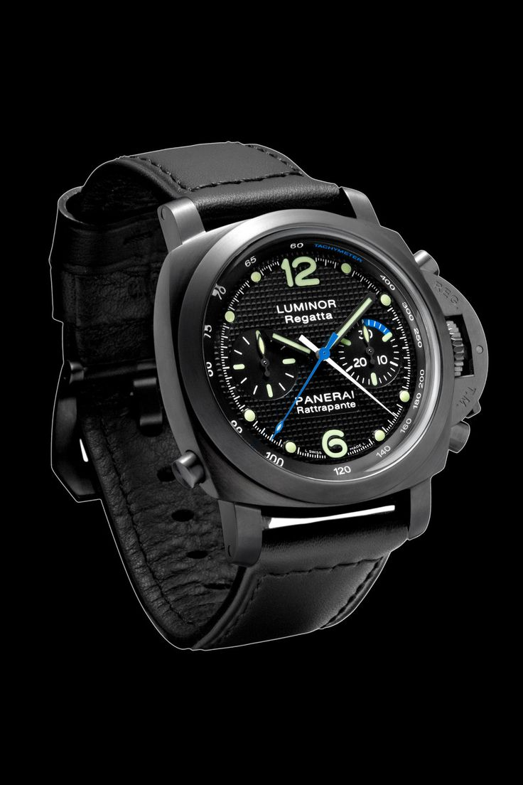 LUMINOR 1950 REGATTA RATTRAPANTE 44 MM, DLC , Panerai Timepieces and Luxury Watches on Presentwatch