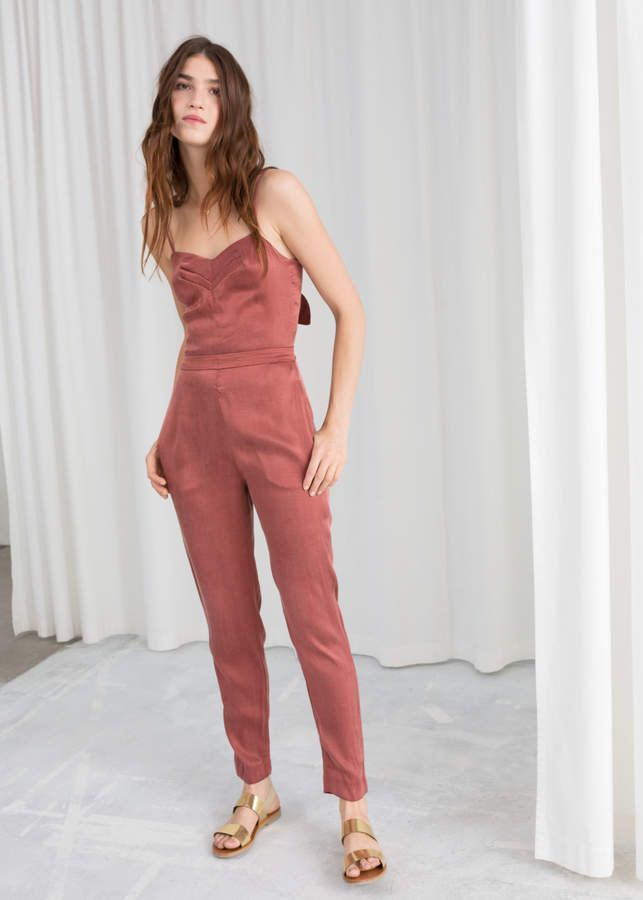 11cf0638b2d91 And other stories Tie Back Jumpsuit in 2019 | Fashion | Jumpsuit ...