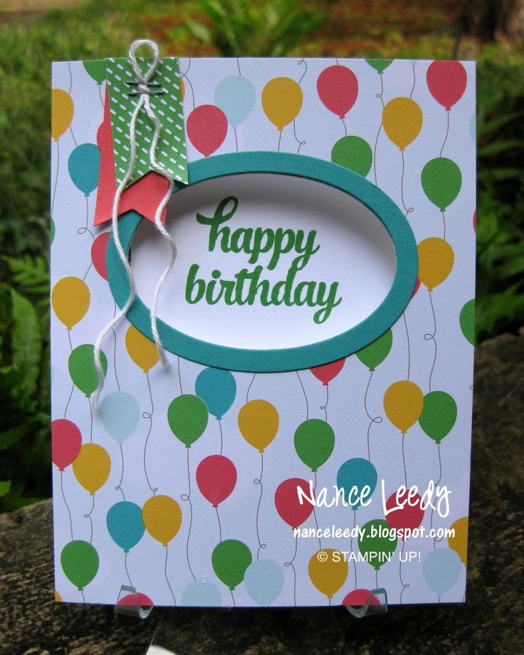 159 Best Stampin Up Birthday Cards Images On Pinterest Diy Cards