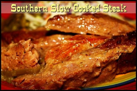 Southern Slow Cooked Steak http://www.momspantrykitchen.com/southern-slow-cooked-steak.html