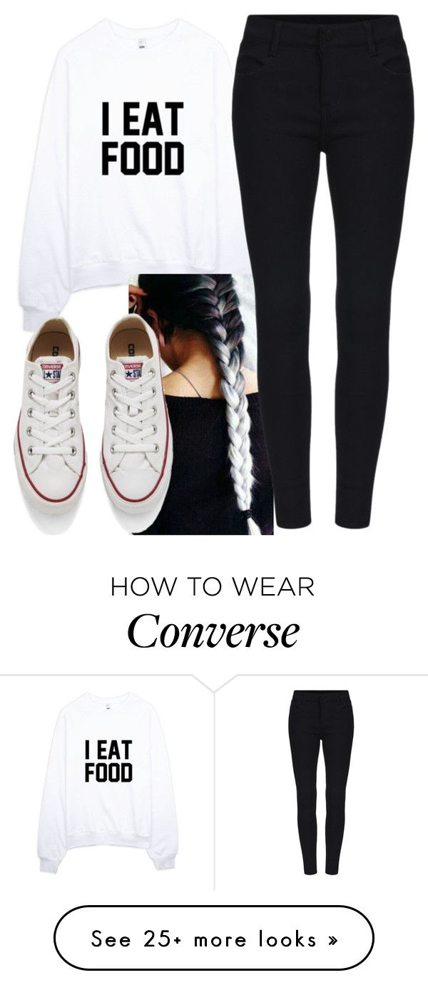"""""""Untitled #7406"""" by carmellahowyoudoin on Polyvore featuring Converse, women's clothing, women, female, woman, misses and juniors"""