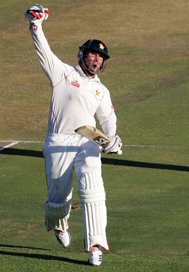 Brendan Taylor (Zim) 171, celebrates his hundred, vs Bangladesh, 1st Test, Harare, 1st day, April 17, 2013