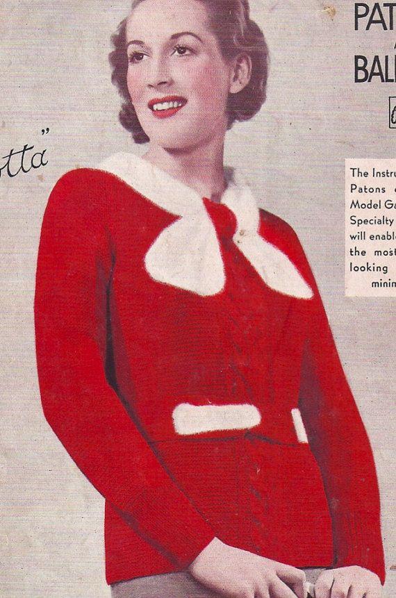 """Magnolia- 1930-х годов фешенебельным Vintage ePattern- гламурно трикотажные кофточки B33 """"очень стиль Даунтон Abbey"""