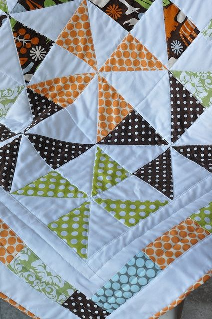 Baby Quilt for a Boy @ DIY Home Ideas or it could be a fall quilt