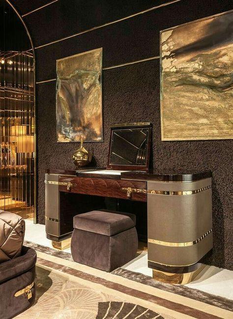 Iconic Art Furniture Pieces For Modern Interior Design Luxury Interior Design Art Deco Bedroom Dressing Table Design