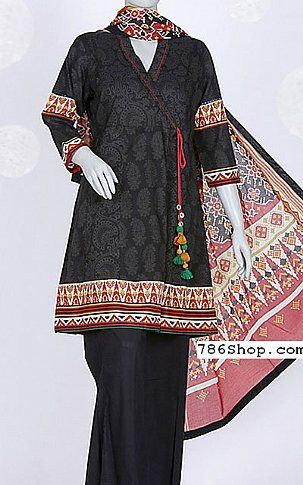 Black Lawn Suit | Buy Junaid Jamshed Eid Collection Pakistani Dresses and Clothing online in USA, UK