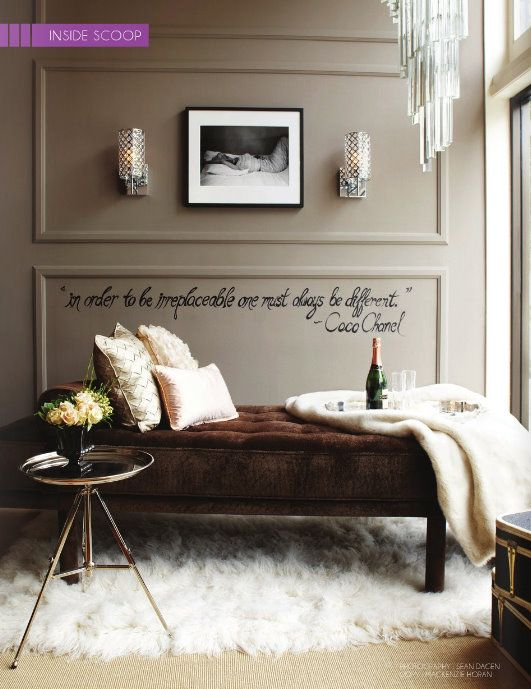 This is a cute idea for the home of a young lady straight out of college.