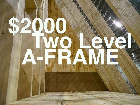 "An A-frame Cabin or Tiny House for $2000 (""The Dart""- Greenhouse Studio?) - YouTube  -  To connect with us, and our community of people from around the world, learning how to live large in small places, visit us at www.Facebook.com/TinyHousesAustralia"