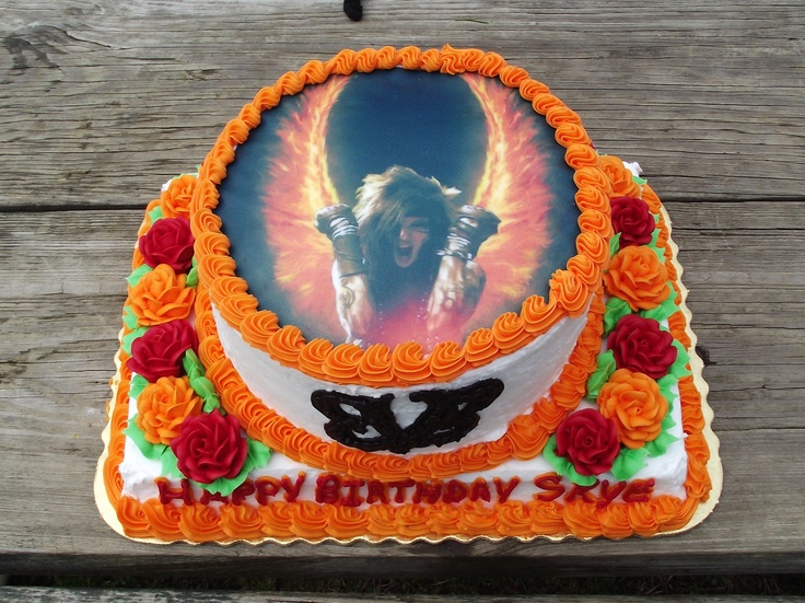 Black Veil Brides birthday cake, if someone made me this I'd die <3: Brides Birthday, Band Merch, Black Veil Brides, Cake Food Ideas, B Day Cake, Birthday Ideas, Birthday Gifts, Band Cakes, Birthday Cakes