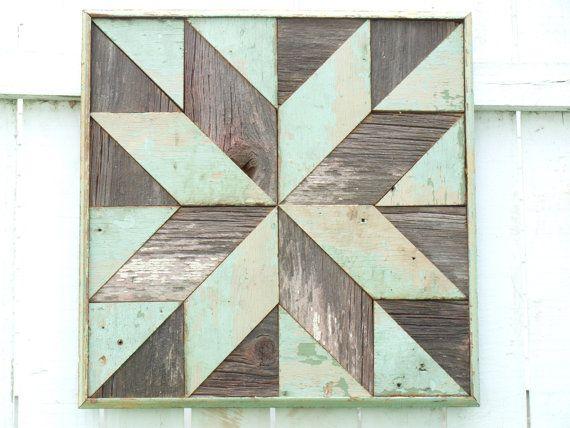Wooden Barn Quilt Salvaged Geometric Art Block