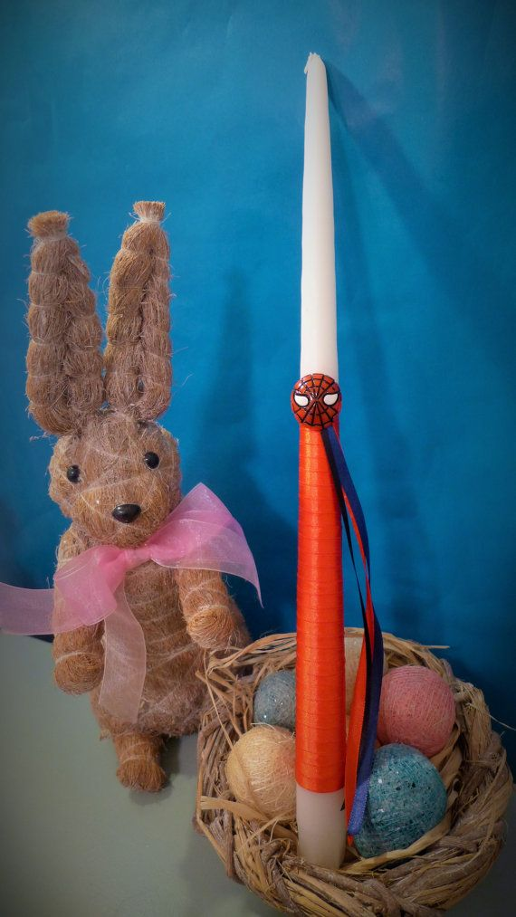 Super Hero Greek Easter Candle Lambada by KoulEvents on Etsy