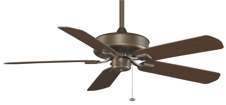 "Fanimation TF910-220 50"" 5 Blade 220V Outdoor FanSync Compatible Commercial Ceil Aged Bronze Fans Ceiling Fans Outdoor Ceiling Fans"