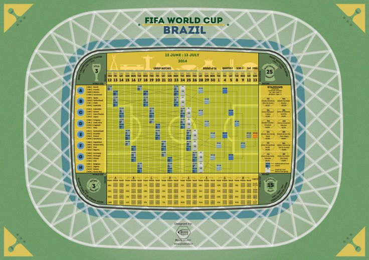 Brazil World Cup 2014 Calendar - print out and use version for the #WorldCup