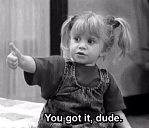 Michelle from full house is so cute! She has this sassy attitude but still pulls it off!