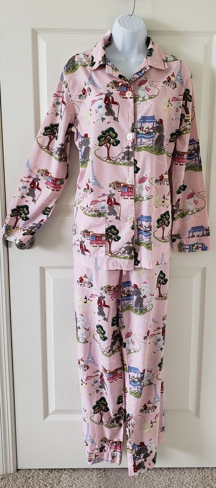 Women s NICK   NORA Pink PARIS POODLE Pajama SET sz MED pjs  fashion   clothing  shoes  accessories  womensclothing  intimatessleep (ebay link) fe8b6aed5